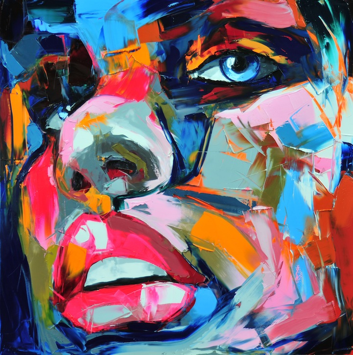 Vibrant Palette Knife Paintings by Françoise Nielly: francoisniellypaintings5.jpg