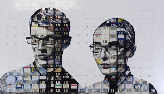 Floppy Disk Paintings by Nick Gentry: 5323079729_36206641a7_b.jpg