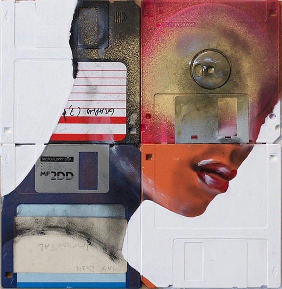 Floppy Disk Paintings by Nick Gentry: 5384749741_f20d3d87fc_z.jpg