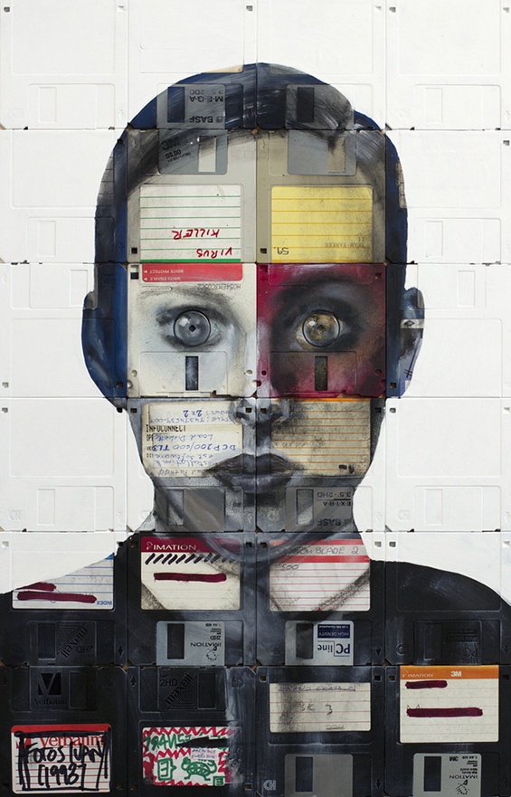 Floppy Disk Paintings by Nick Gentry: 5405272856_14c321b444_b.jpg