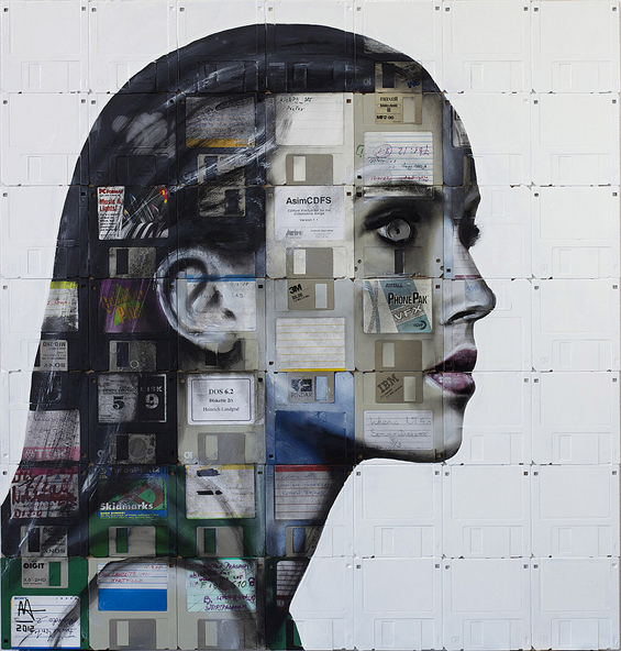 Floppy Disk Paintings by Ni