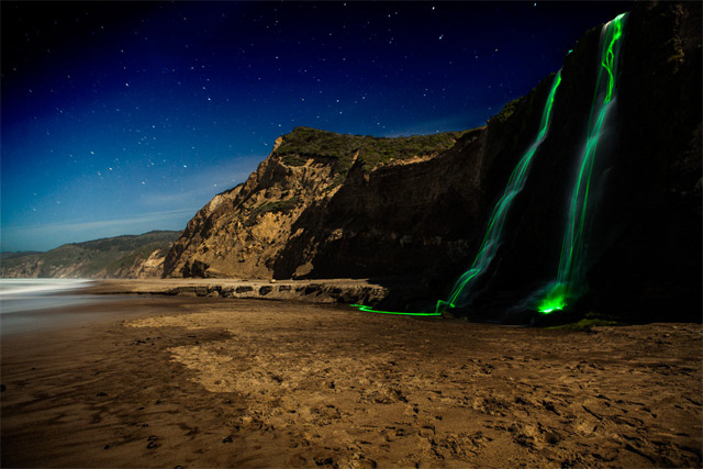 Neon Waterfalls by Sean Lenz and Kristoffer Abildgaard: waterfall-2.jpg