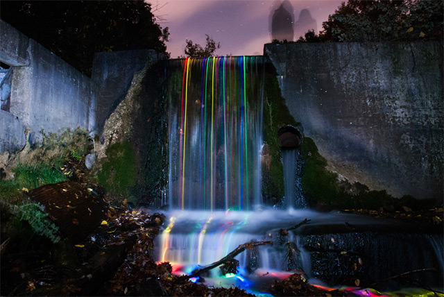 Neon Waterfalls by Sean Lenz and Kristoffer Abildgaard: waterfall-5.jpg
