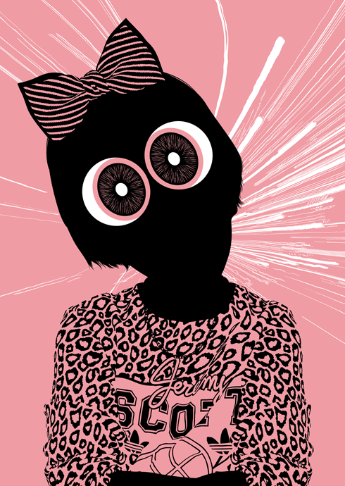 Illustrations by Jules Julien: Powerpuffgirl-print-Bok.png