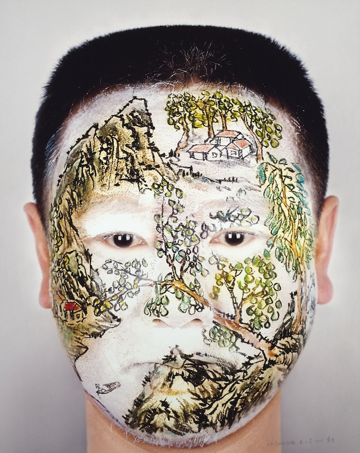 Huang Yan Paints Song Dynasty Landscapes on the Human Body: huangyanchineselandscapes5.jpg