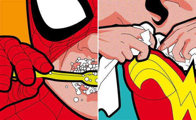 Best of 2013: Greg Guillemin's 'The Secret Life of Superheroes': The-Secret-Life-of-Superheroes-by-Greg-Guillemin-5.jpg