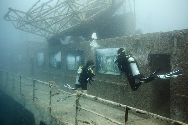 Andreas Franke's 'The Sinking World' @ An Underwater Gallery: 24.27 N, 81.44 W: exhibition.jpg