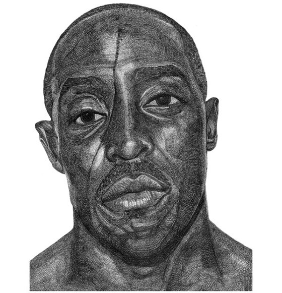 Jacob Everett's Ballpoint Portraits: Michael-K-Williams-Drawing-by.jpg