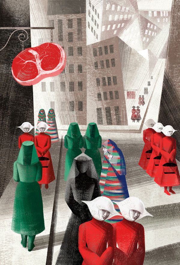 Book Illustrations by the Balbusso Sisters: City-by-Balbusso-Sisters-for-The-Handmaids-Tale-by-Margaret-Atwood.jpg
