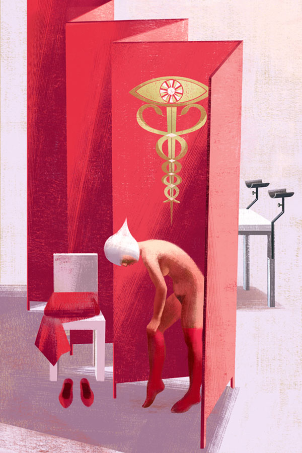 Book Illustrations by the Balbusso Sisters: Examination-by-Balbusso-Sisters-for-The-Handmaids-Tale-by-Margaret-Atwood.jpg