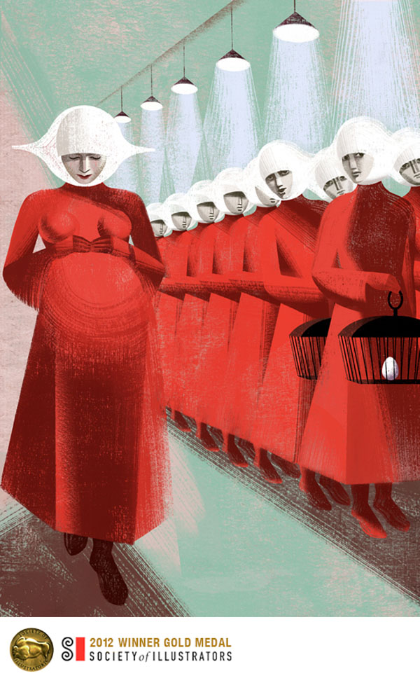 Book Illustrations by the Balbusso Sisters: Pregnant-by-Balbusso-Sisters-for-The-Handmaids-Tale-by-Margaret-Atwood.jpg