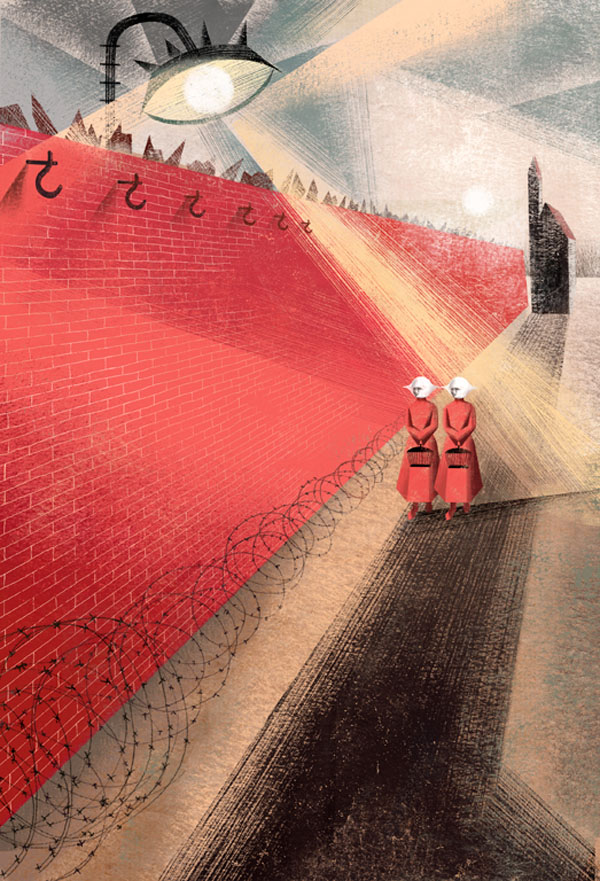 Book Illustrations by the Balbusso Sisters: Red-Wall-by-Balbusso-Sisters-for-The-Handmaids-Tale-by-Margaret-Atwood.jpg