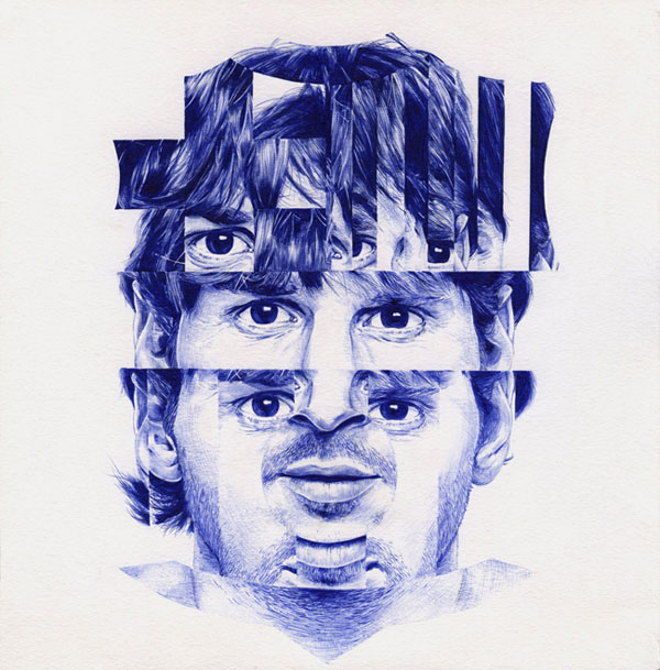 Ballpoint Illustrations by Chamo San: Messi-–-fcbarcelona-Ballpoint-pen-illustration-by-Chamo-San.jpg