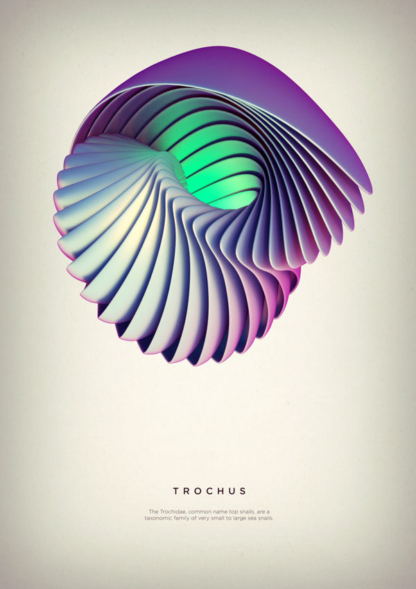 Revolved Forms by Crtomir Just: 07-Trochus-Digital-Art-by-Črtomir-Just-346345.jpg