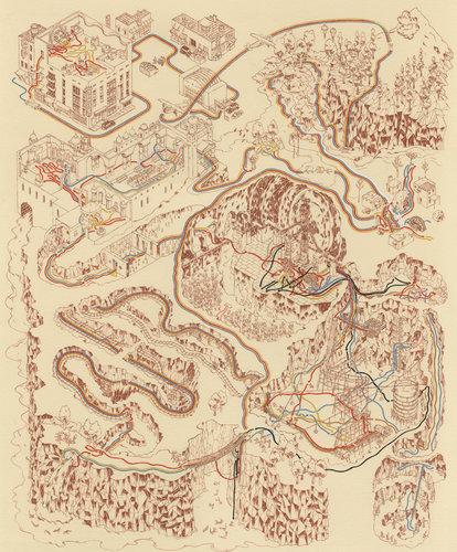 Star Wars Maps by Andrew DeGraff: 1671595-slide-0-indytempleflat.jpg