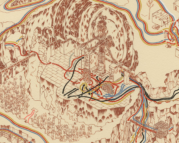Star Wars Maps by Andrew DeGraff: 1671595-slide-1-indytempleflat.jpg
