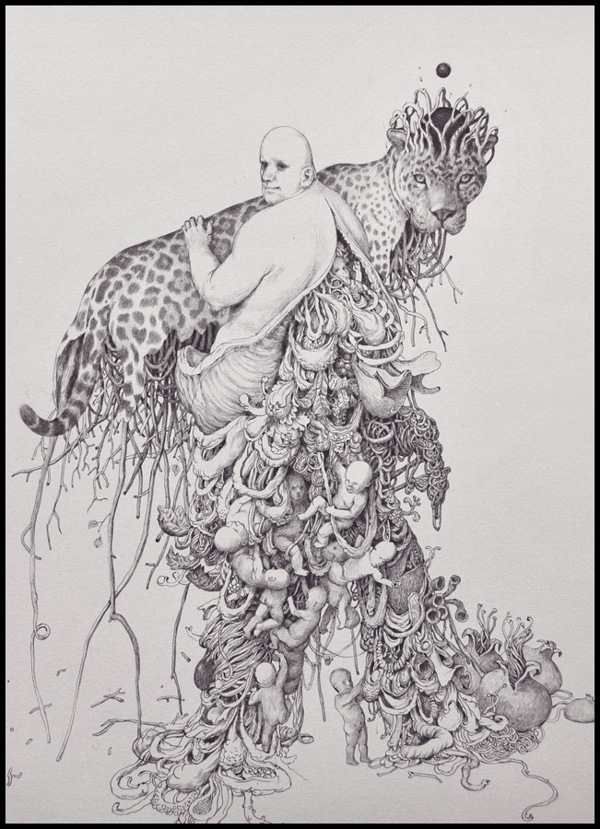 Grotesque Characters by Anton Vill: Ballpoint-Pen-Drawing-by-Anton-Vill-2133453.jpg
