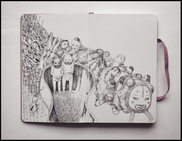 Grotesque Characters by Anton Vill: Ballpoint-Pen-Drawing-by-Anton-Vill-32443543.jpg