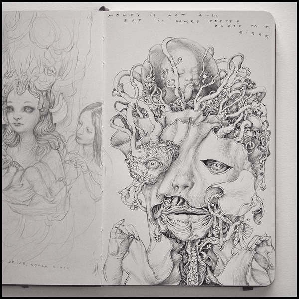 Grotesque Characters by Anton Vill: Ballpoint-Pen-Drawing-by-Anton-Vill-34556.jpg