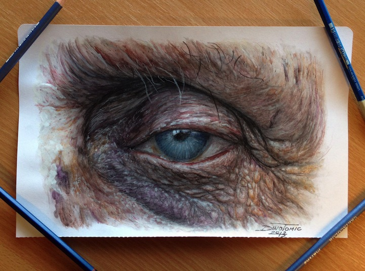Hyperreal Eye Studies by Dino Tomic: atomiccircuscolorpencileyes1.jpg