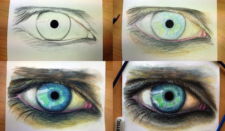 Hyperreal Eye Studies by Dino Tomic: atomiccircuscolorpencileyes3.jpg