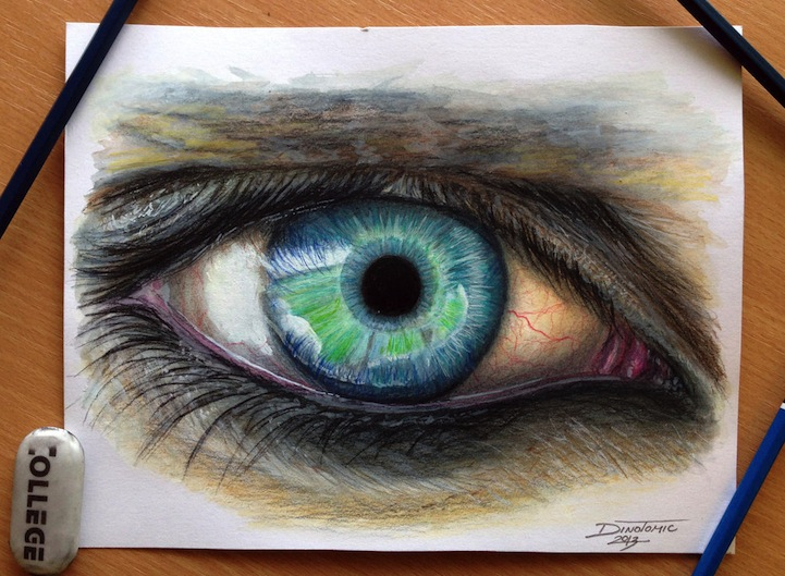 Hyperreal Eye Studies by Dino Tomic: atomiccircuscolorpencileyes4.jpg