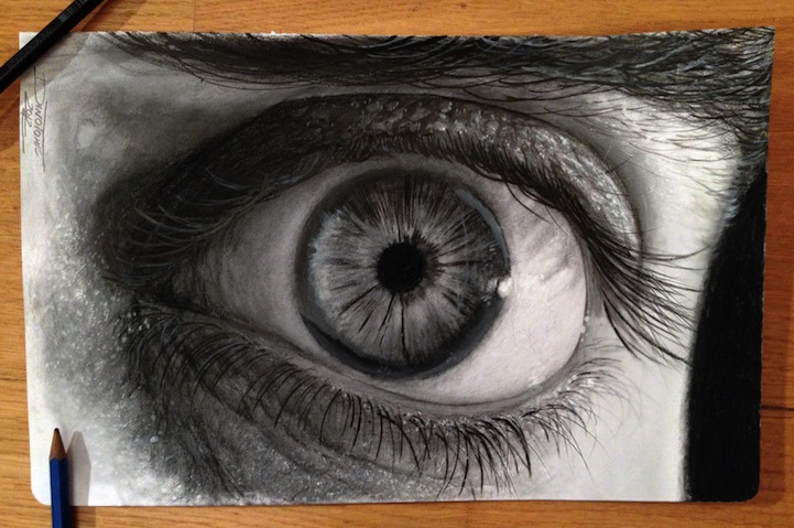 Hyperreal Eye Studies by Dino Tomic: atomiccircuscolorpencileyes6.jpg