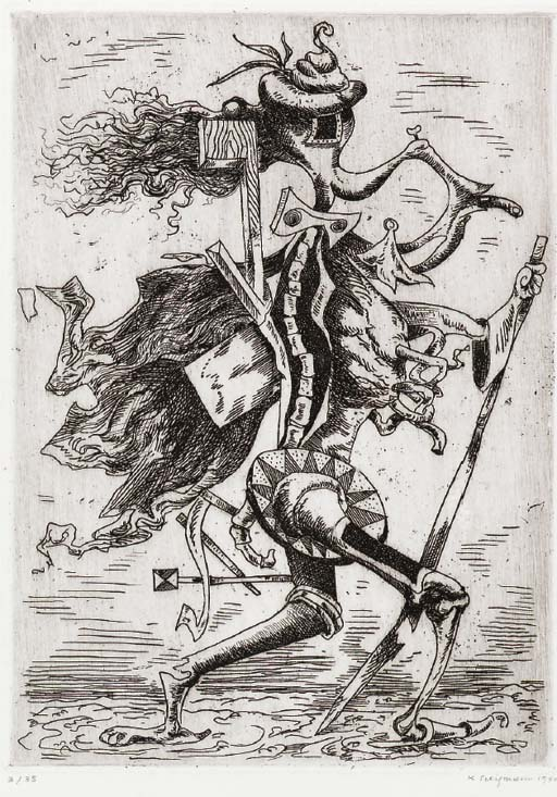 The Work of Kurt Seligmann: Kurt Seligmann- 1941 etching.jpg