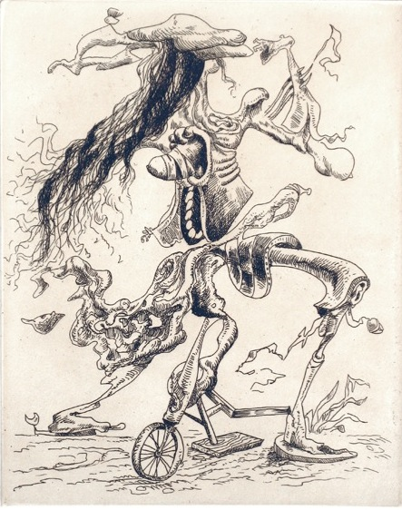 The Work of Kurt Seligmann: Kurt Seligmann- Une criture lisible- etching- 1938.jpg