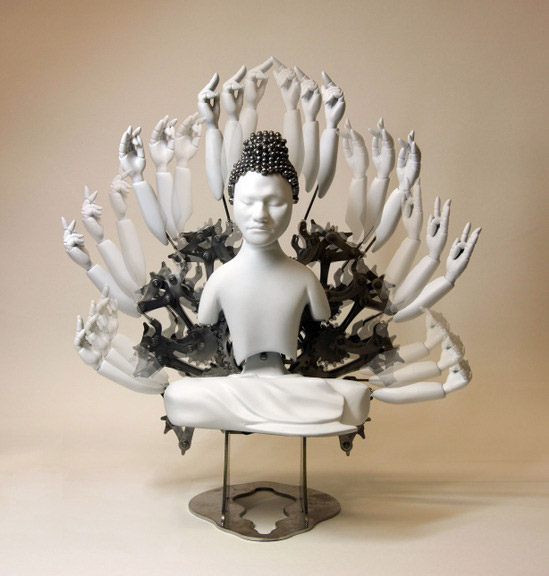 Mechanical Buddhist Sculptures by Zang Zi Won: Wang-Zi-Won_web16.jpg