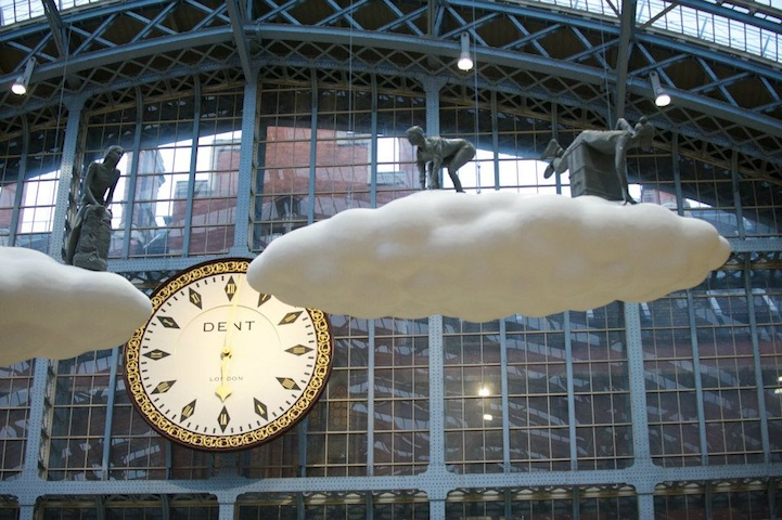 """Cloud I Meteoros"" by Studio Orta over St Pancras Station, London: cloudart02.jpg"