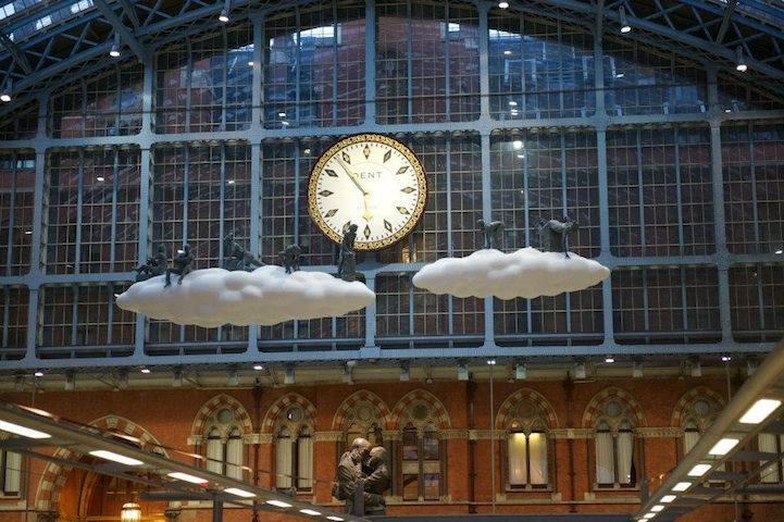 """Cloud I Meteoros"" by Studio Orta over St Pancras Station, London: cloudart04.jpg"