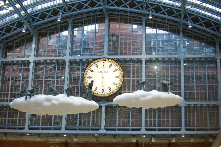 """Cloud I Meteoros"" by Studio Orta over St Pancras Station, London: cloudart05.jpg"