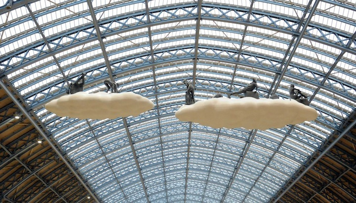 """Cloud I Meteoros"" by Studio Orta over St Pancras Station, London: cloudart07.jpg"