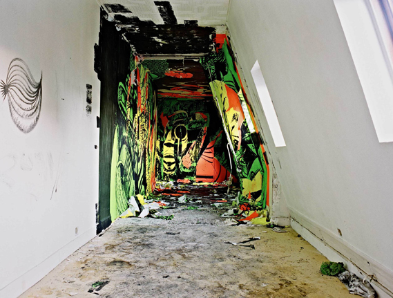 Street Artists Given Run of Condemned Les Bains Nightclub: 9eme_concept_scratchpaper_courtesy_galerie_magda_danysz__les_bains_credit_photo_je769ro770me_coton_2_0.jpg