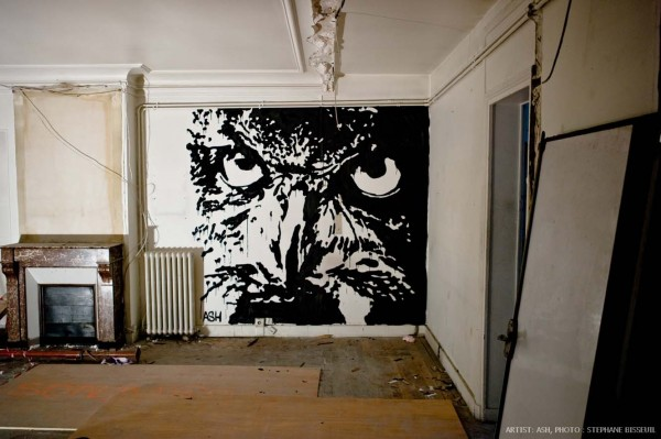 Street Artists Given Run of Condemned Les Bains Nightclub: ASH-courtesy-Galerie-Magda-Danysz-credit-photo-Stephane-Bisseuil-11-600x399.jpg