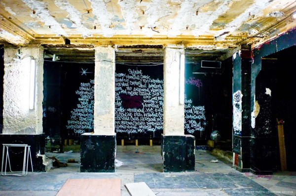 Street Artists Given Run of Condemned Les Bains Nightclub: NASTY-courtesy-Galerie-Magda-Danysz-Les-Bains-photo-Stephane-Bisseuil5-600x399.jpg