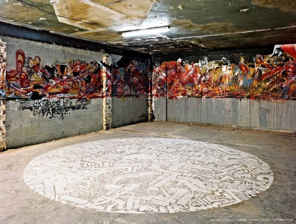 Street Artists Given Run of Condemned Les Bains Nightclub: Sowat-Sambre-Parole-courtesy-Galerie-Magda-Danysz-Les-Bains-Photos-Jerome-Coton-2-600x453.jpg