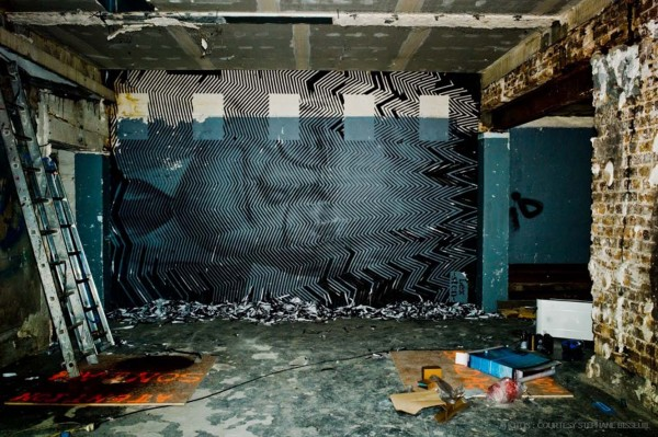 Street Artists Given Run of Condemned Les Bains Nightclub: Sten-Lex-Les-Bains-courtesy-Stephane-Bisseuil-Galerie-Magda-Danysz-7-600x399.jpg