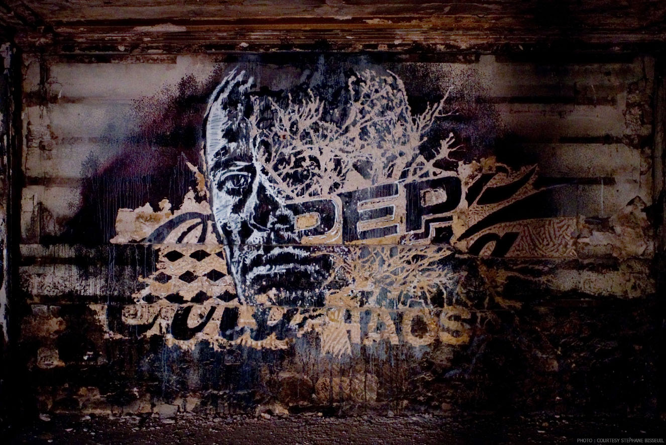 Street Artists Given Run of Condemned Les Bains Nightclub: VHILS-Les-Bains-photo-courtesy-Stephane-Bisseuil-1.jpg