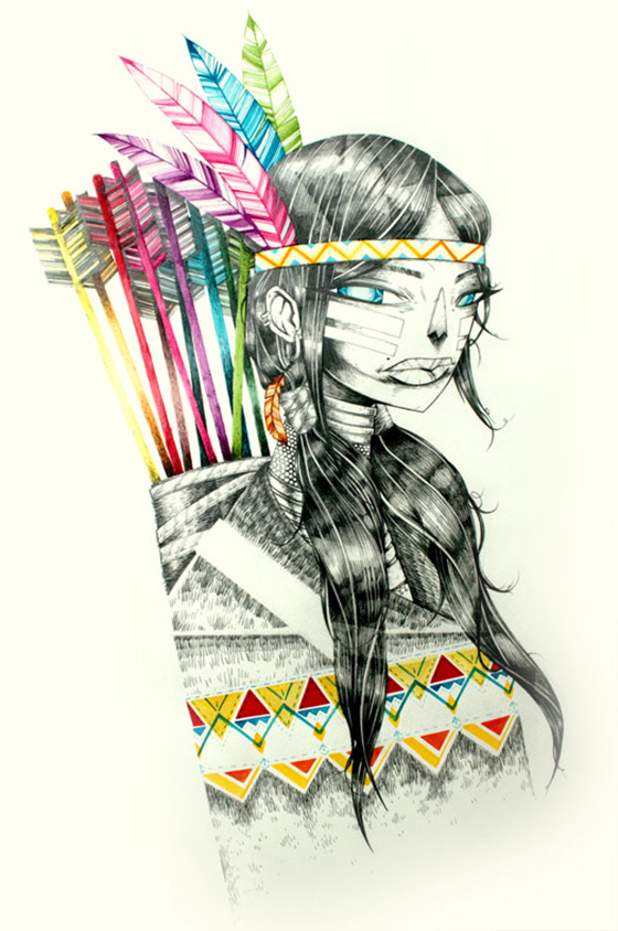Dynamic Characters by Guy McKinley : RainBows---Arrows.jpg
