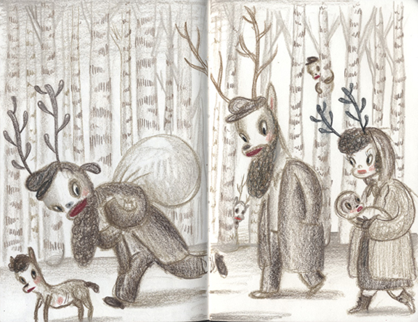 "Gary Baseman ""The Door is Always Open"" @ Skirball Cultural Center, Los Angeles: Baseman_Sketchbook_lg.jpg"