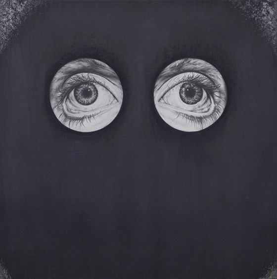 Derek Albeck's Graphite Drawings: Black Drawing1_eyes.jpg