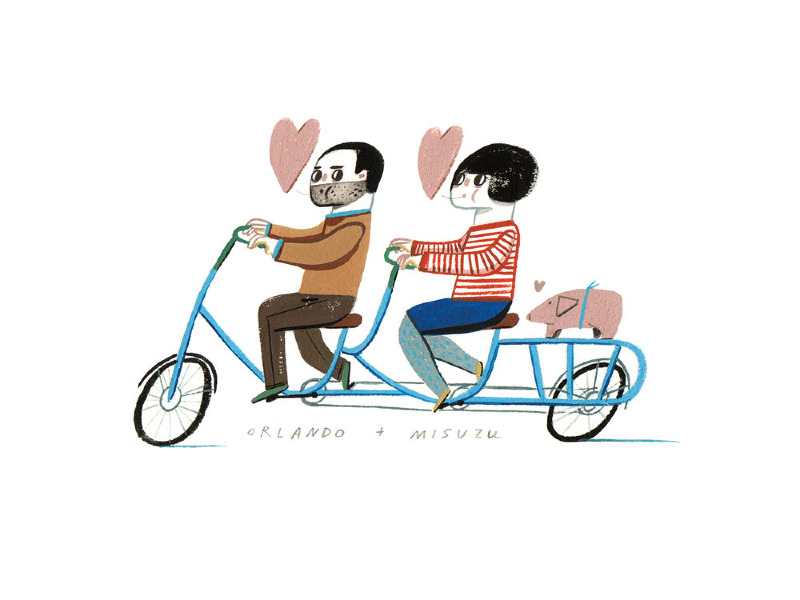 Whimsical Illustrations by Ping Zhu: final-card-web_800.jpg