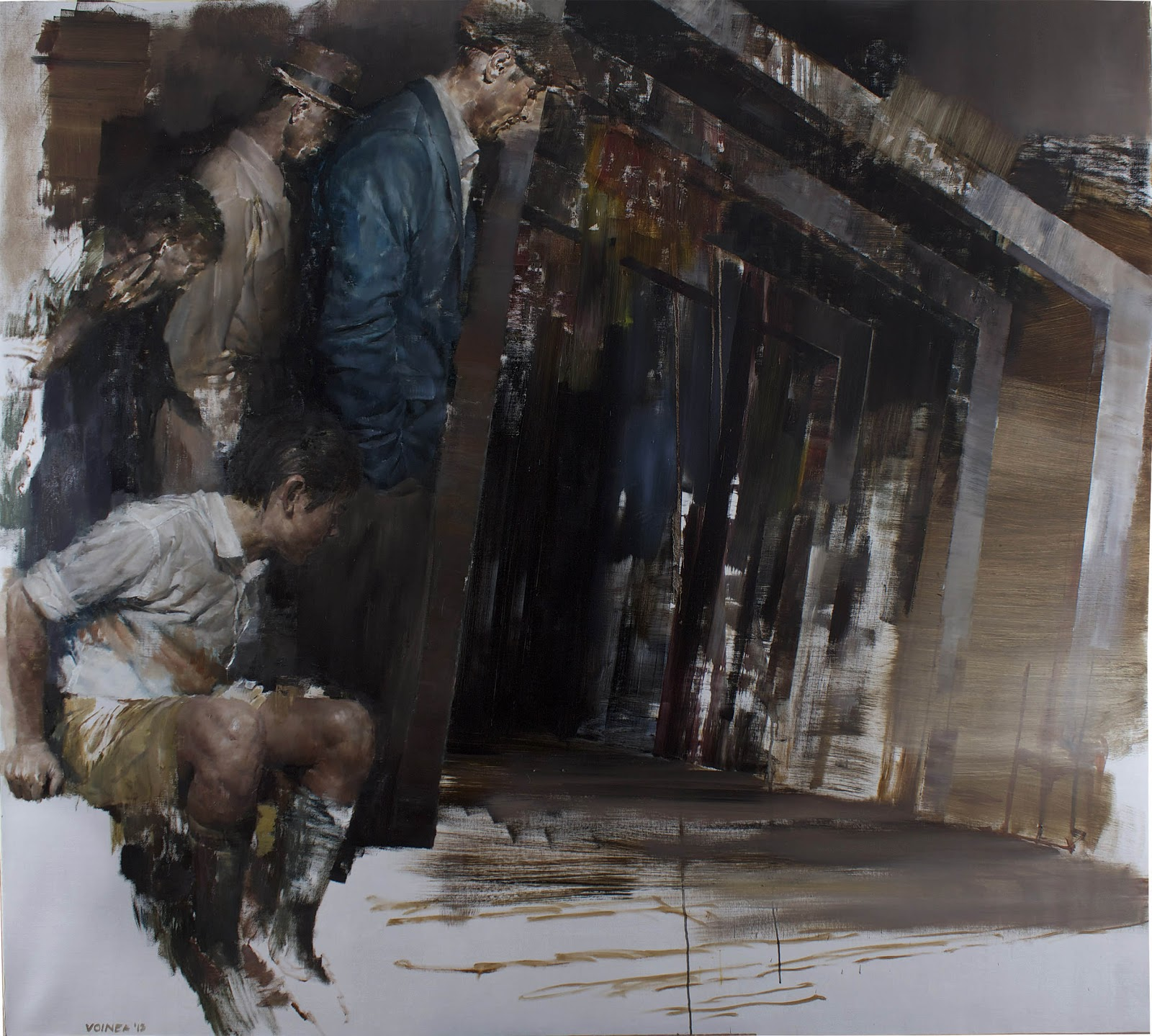 "Dan Voinea ""A Momentary Rise of Reason"" @ Beers.Lambert Contemporary, London: Parade180X200cm.jpg"