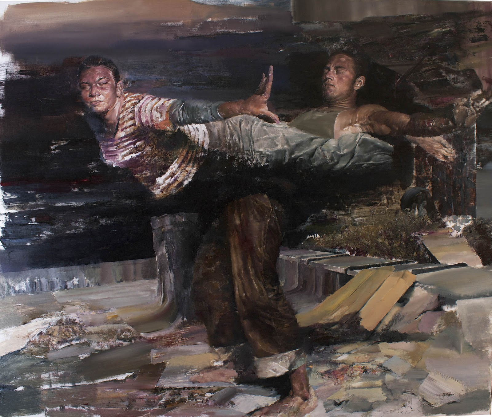 "Dan Voinea ""A Momentary Rise of Reason"" @ Beers.Lambert Contemporary, London: Performance 150X180cm'.jpg"