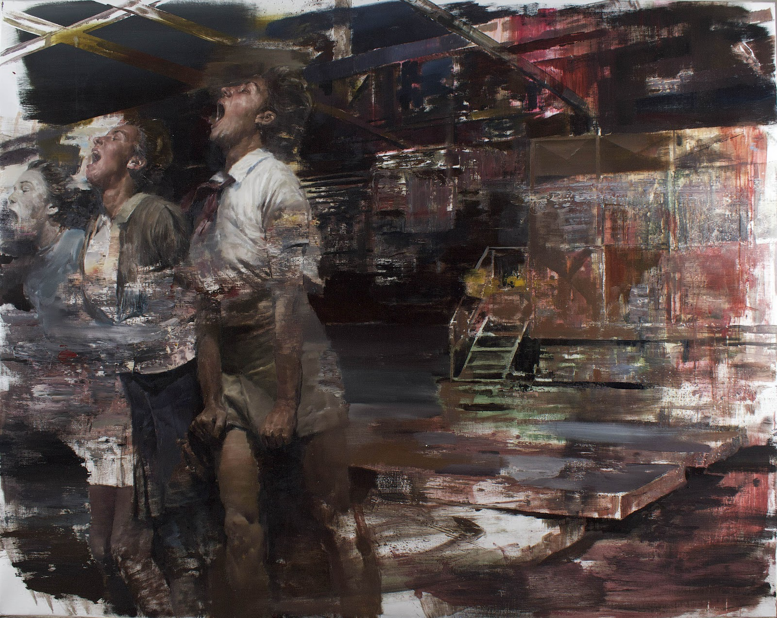 "Dan Voinea ""A Momentary Rise of Reason"" @ Beers.Lambert Contemporary, London: Performance II.160X200cm.jpg"