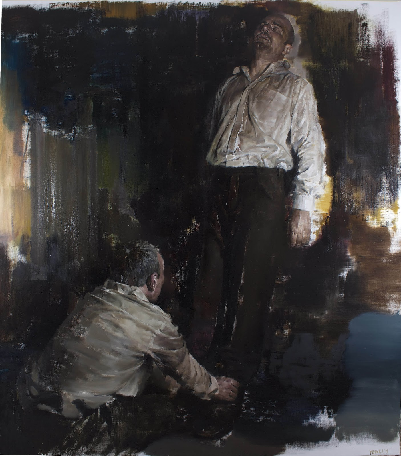 "Dan Voinea ""A Momentary Rise of Reason"" @ Beers.Lambert Contemporary, London: PerformanceIII200X180cm.jpg"