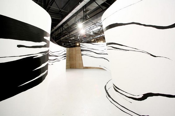 Tape Paintings by Sun K. Kwak: Sun-K-Kwak-installation10.jpg