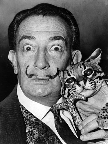 Famous Artists and Their Cats: dali1.jpg